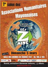 Affiche salon des associations humanitaires mayennaises