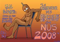 Calendrier 2008 des bloggers (BD) nus